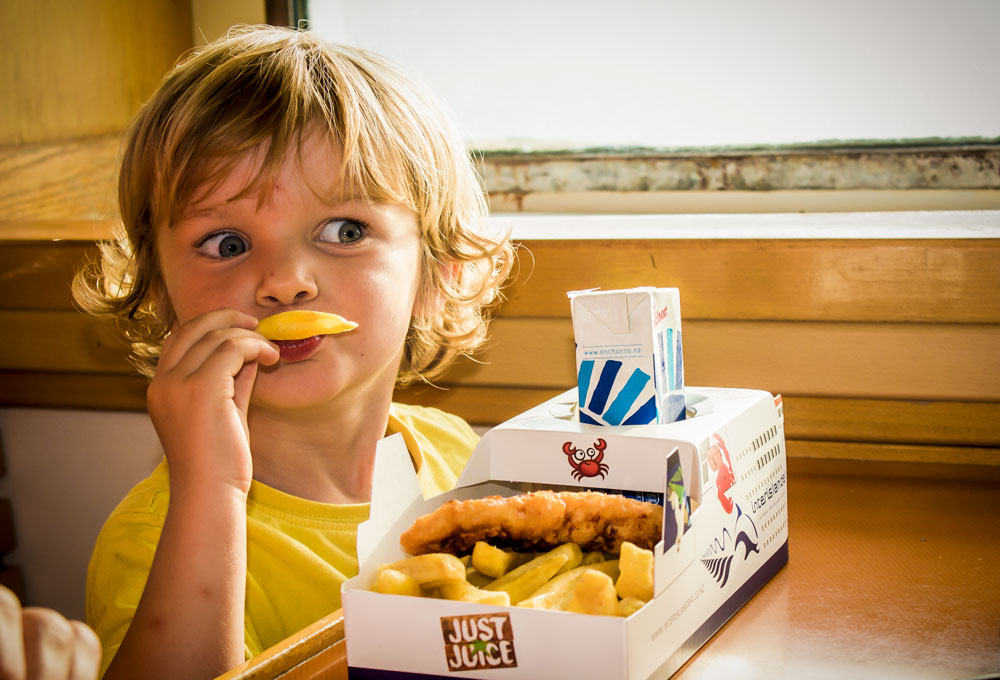 Interislander fish and chips make a playful dinner