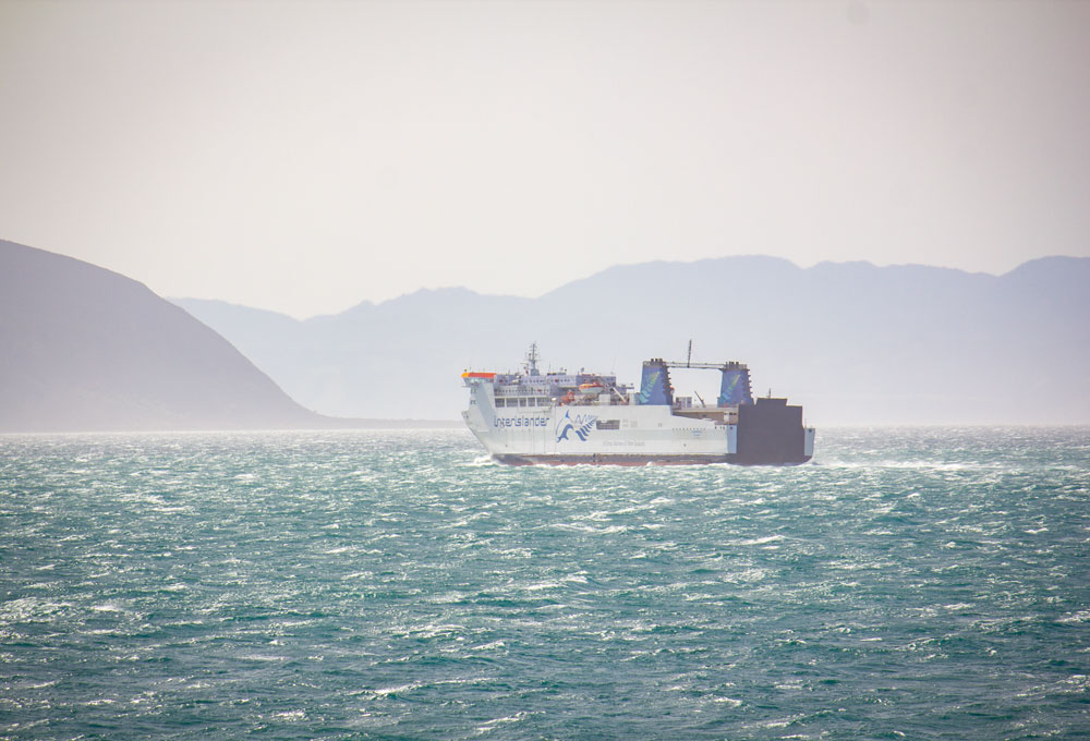 Interislander sailing through windy Cook Strait sailing conditions