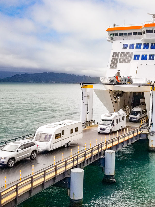 Easily drive straight on and straight off our Cook Strait car ferry
