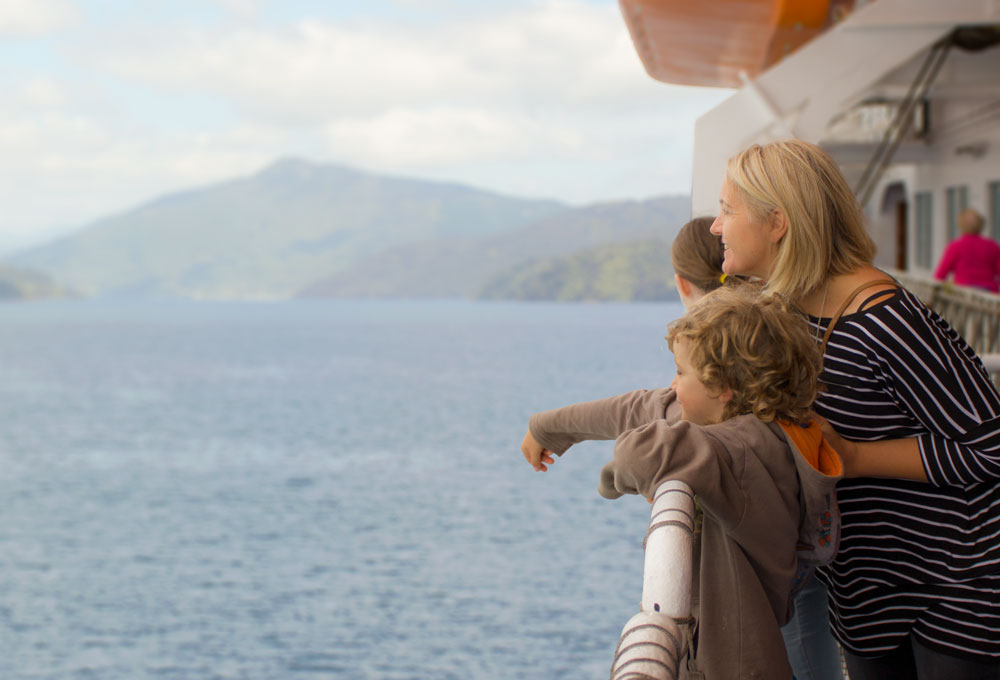 Take timeout to enjoy the outside on the Interislander ferry