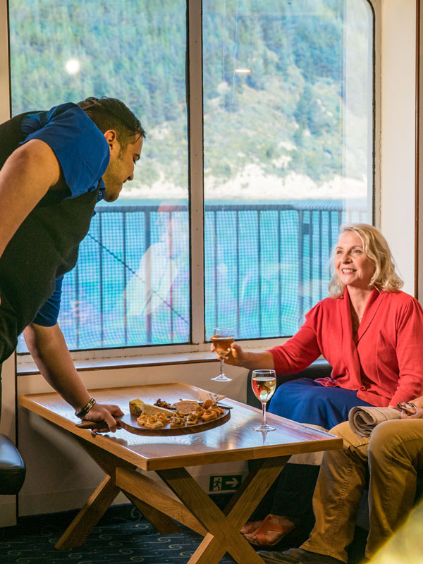 Interislander Plus Lounge experience during our Cook Strait crossing