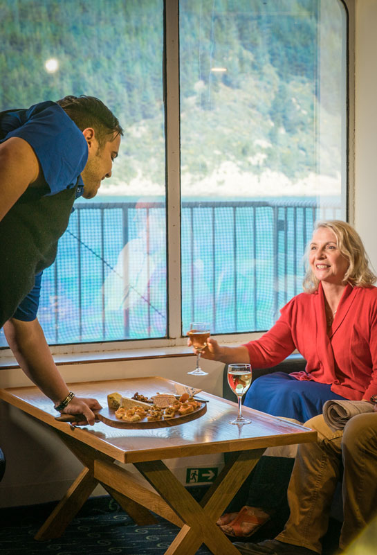 Relax in elegant style in our Interislander Plus lounges