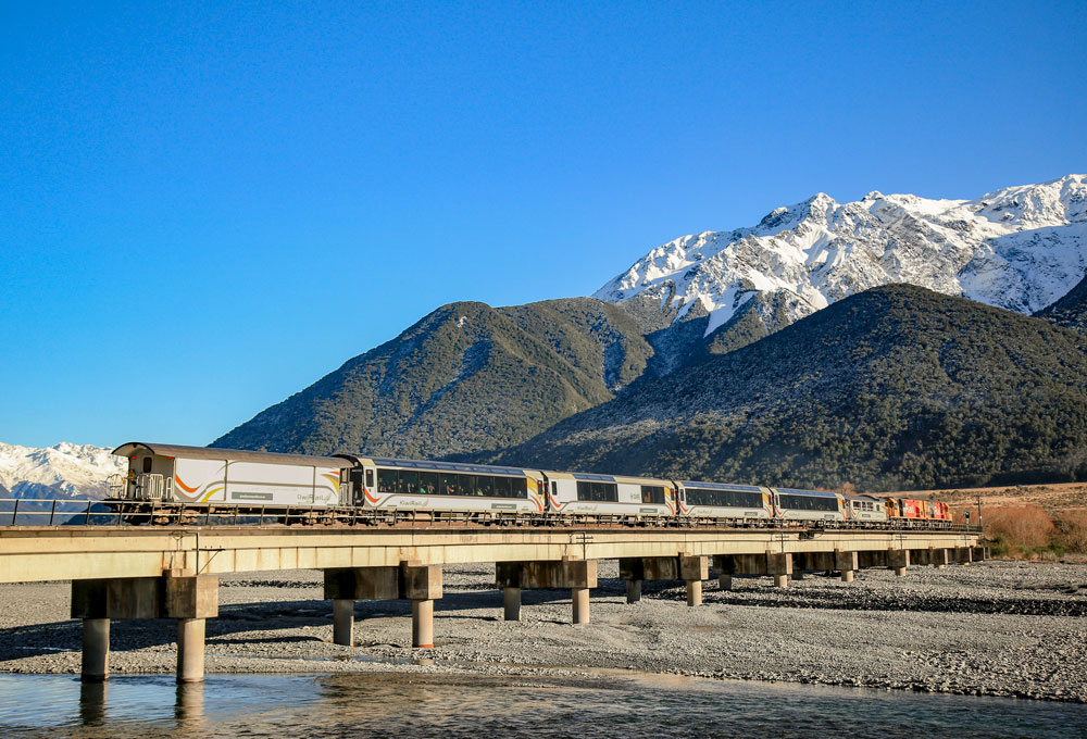 The Tranzalpine is our most famous NZ train