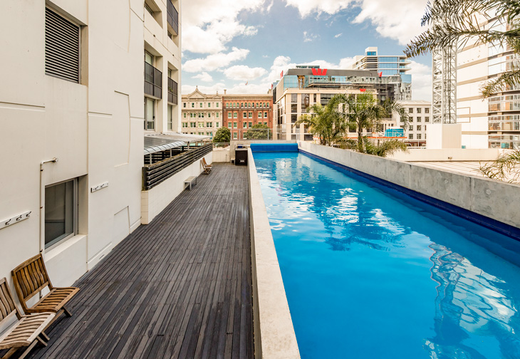 Auckland Harbour Suites Outdoor Pool 730x504