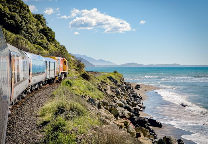 Meander through Marlborough and North Canterbury aboard our Coastal Pacific Picton to Christchurch train