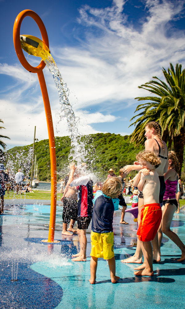 Cool down in the Splash Park at the Picton Maritim Festival