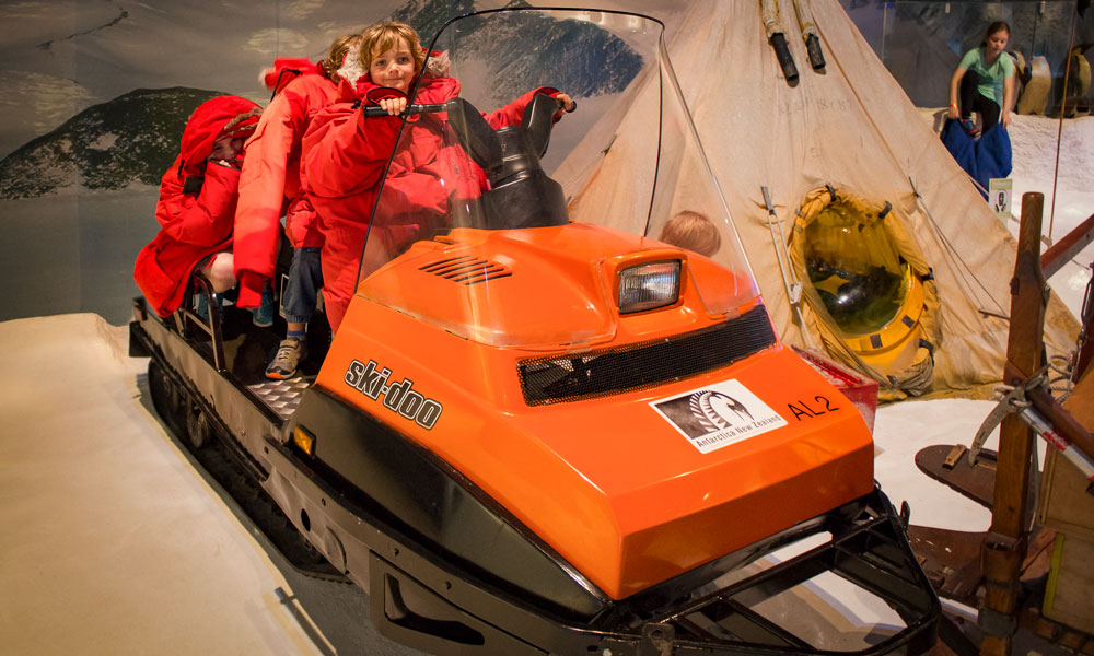 the Internationational Antarctic Centre in Christchurch is a great family day!