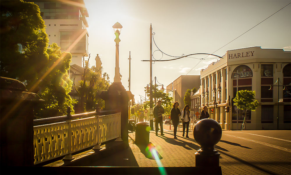 Christchurch's regenerated city centre offers a relaxing yet vibrant nightlife