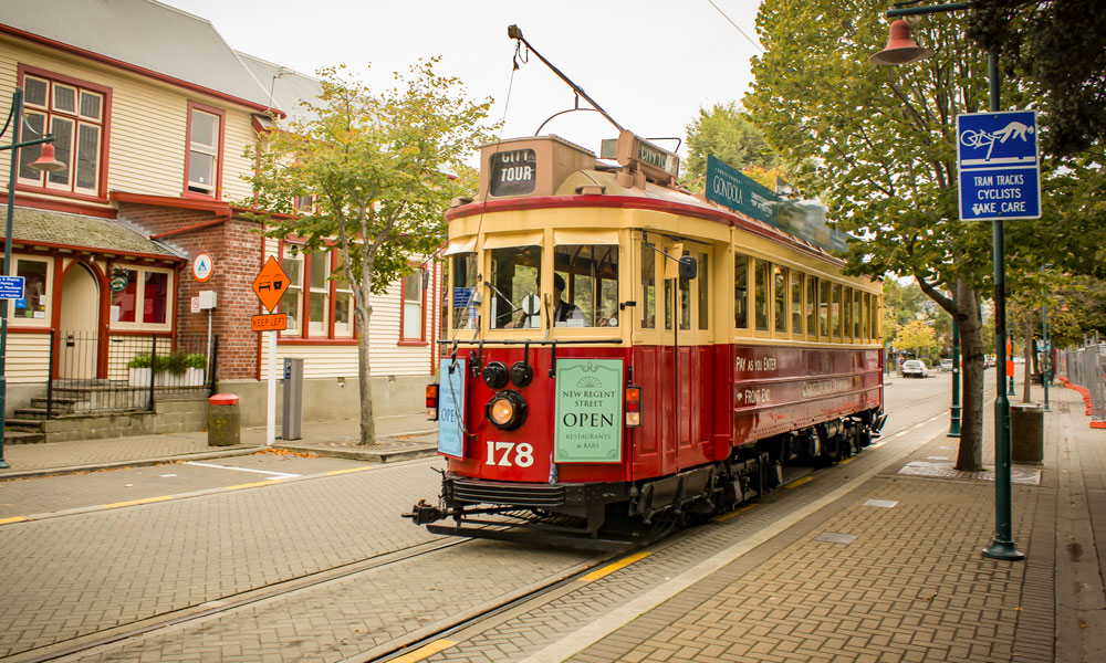 One of Christchurch's top activities is an historic tram ride through the city