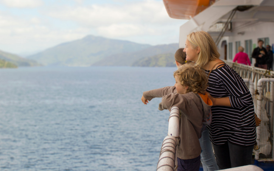 Family on the Interislander