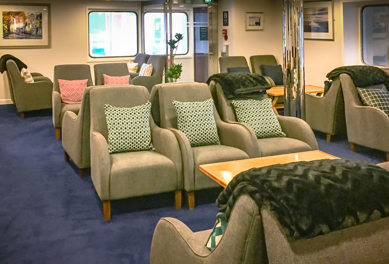 Enjoy our newly refurbished Aratere Plus Lounge as you cross Cook Strait