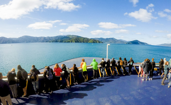 Interislander Aratere in the sounds Feature