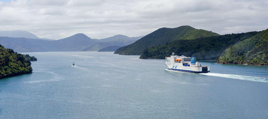 Interislander Kaitaki Leaving Picton