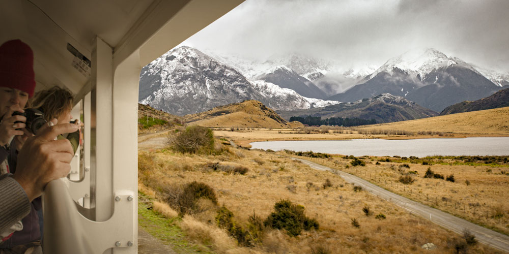 Overlooking Lake Sarah on the TranzAlpine