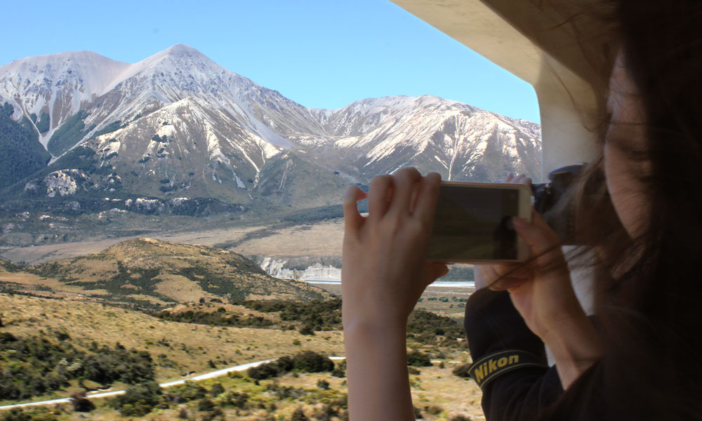 see the Southern Alps from Christchurch aboard the TranzAlpine train!