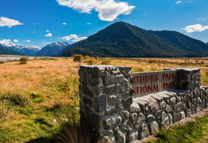 Arthurs Pass National Park Sign 730x504