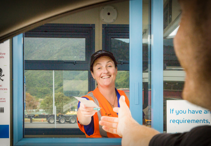 Interislander Picton Vehicle Check in booths 730x504