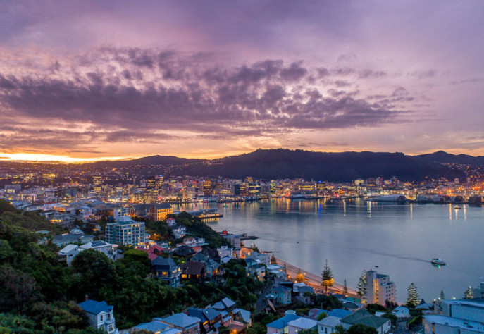 sunset over Wellington snippet